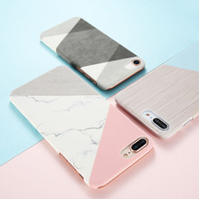 KISSCASE Simple Case For iPhone 8 7 6S 6 Plus X XS Max XR Marble Wood Pattern Phone 5S SE 5 Cover