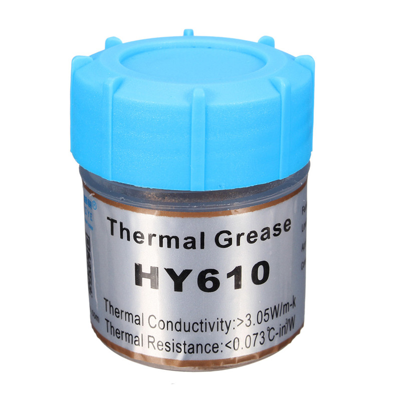 Wholesale HY610 10g Golden Thermal Grease Silicone Grease Conductive Grease Paste For CPU GPU Chipset Cooling Compound Silicone 73w mk grizzly bear liquid metal for thermal grizzly conductonaut 1g diy silicon grease for cpu gpu graphics card easy to cool