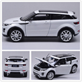 1pcs SUV CAR Range Rover Evoque CARS 2 Metal ABS 18cm 1:24 Open Door Hood Collection Birthday KIDS GIFTS TOY Static Model