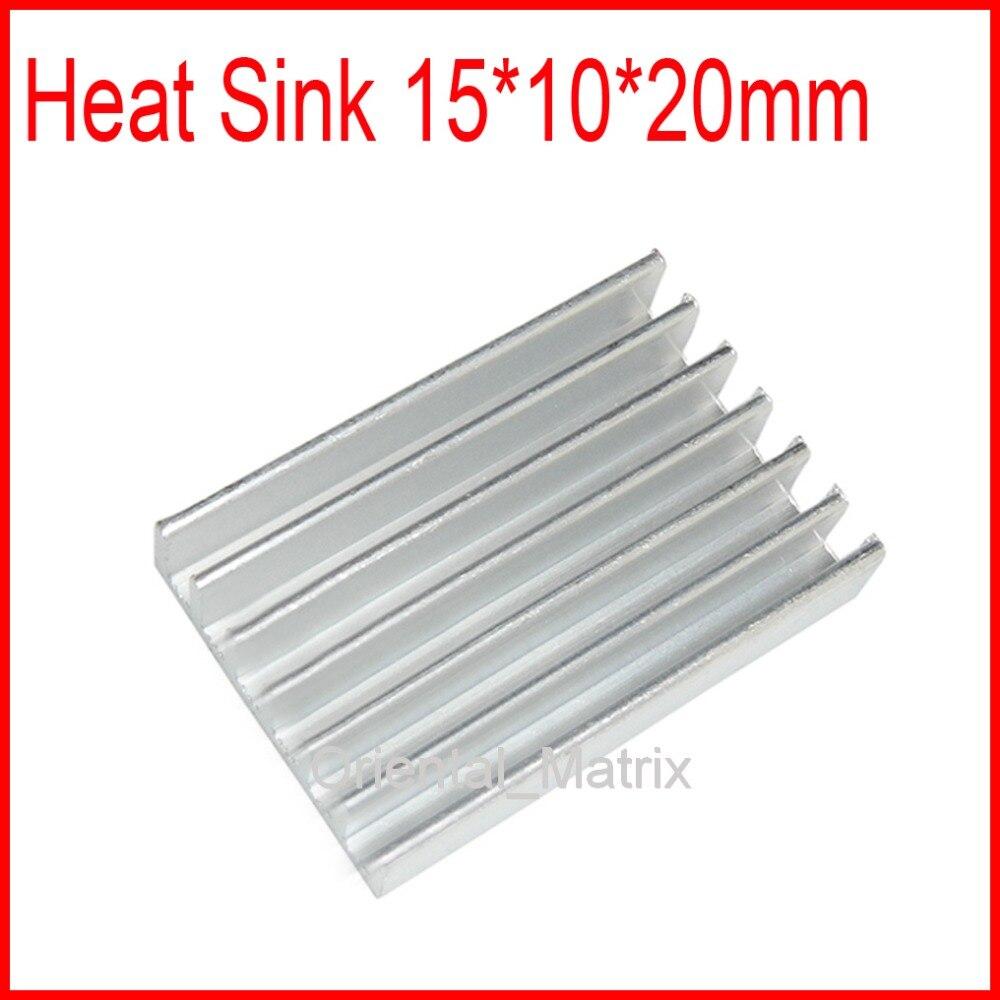 Free Shipping 20pcs 30*20*6mm HeatSink Heat Sink Radiator Small Radiator - Silver free shipping 20pcs 20 20 6mm heatsink heat sink radiator small radiator black