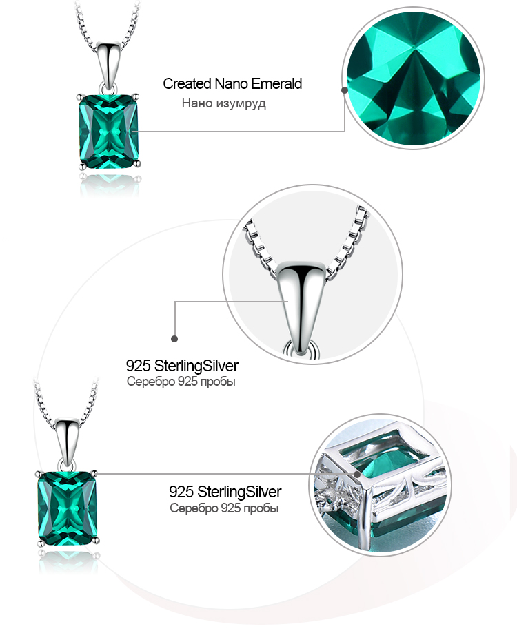 Honyy ?Emerald   925 sterling silver necklace for women NUJ056E-1-app (7)