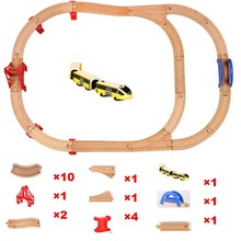 Standard Train Set Wooden Railway TrackMaster Toys Wooden Train Track Railway Accessories - Expansion Wooden Track Railway Brio electric train track set magnetic educational brio railway wooden train track station toys for child