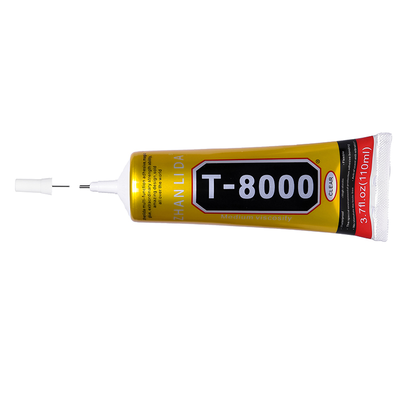 6Pcs 110ML T8000 Glue Epoxy Resin Adhesive Super Strong Fabric Clothes Wood  Touch Screen Electronic Component Rubber b7000 t7000