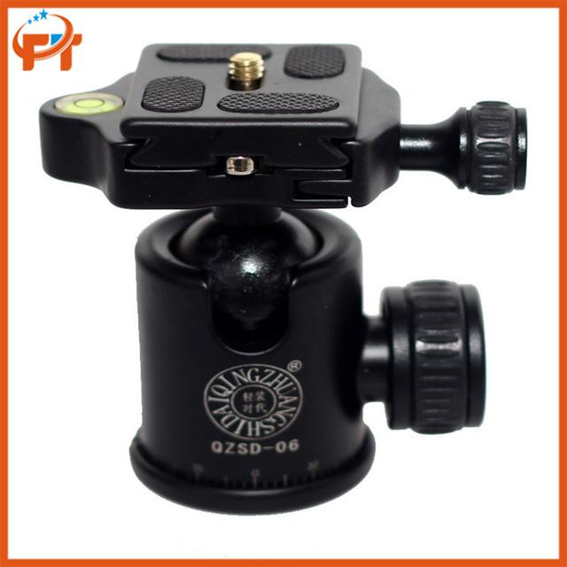 De Alumínio Tripé De câmera Bola Cabeça Ballhead QZSD-06 Q-06 Q06 + Prato de Liberação Rápida Pro Camera Tripod Peso: 0.4 KG