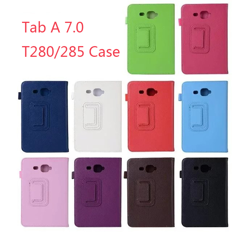 For Samsung Galaxy Tab A A6 7.0 SM-T280 SM-T285 Stand PU Leather Flip Smart Cover Case For Samsung T280 T285 shell areyourshop audio adapter 6 pin xlr 12mm cable chassis mount length 46mm 50pcs female male adapter connector new arrival