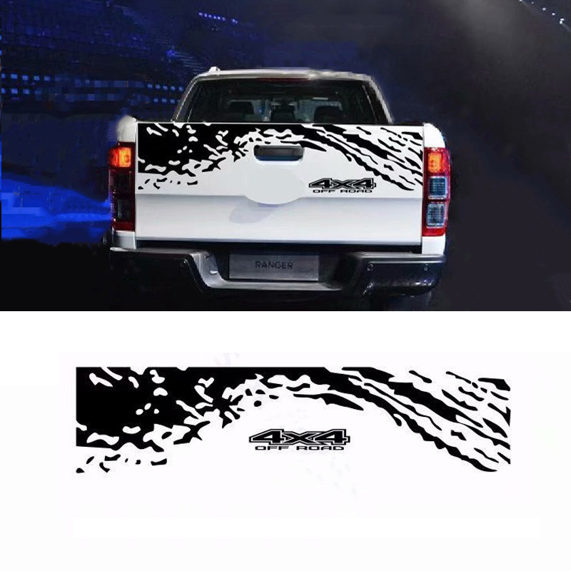 Car Tail Trunk Stickers Decal Car Accessories Automobiles Car Decoration Auto Products For Ford Ranger Off-road Universal Pickup