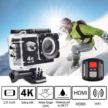 Motorcycle Dash Cam 4K 16M Sports Action Vedio Camera,Car DVR Full HD 30m Waterproof Diving WiFi Remote Control Helmet цена 2017