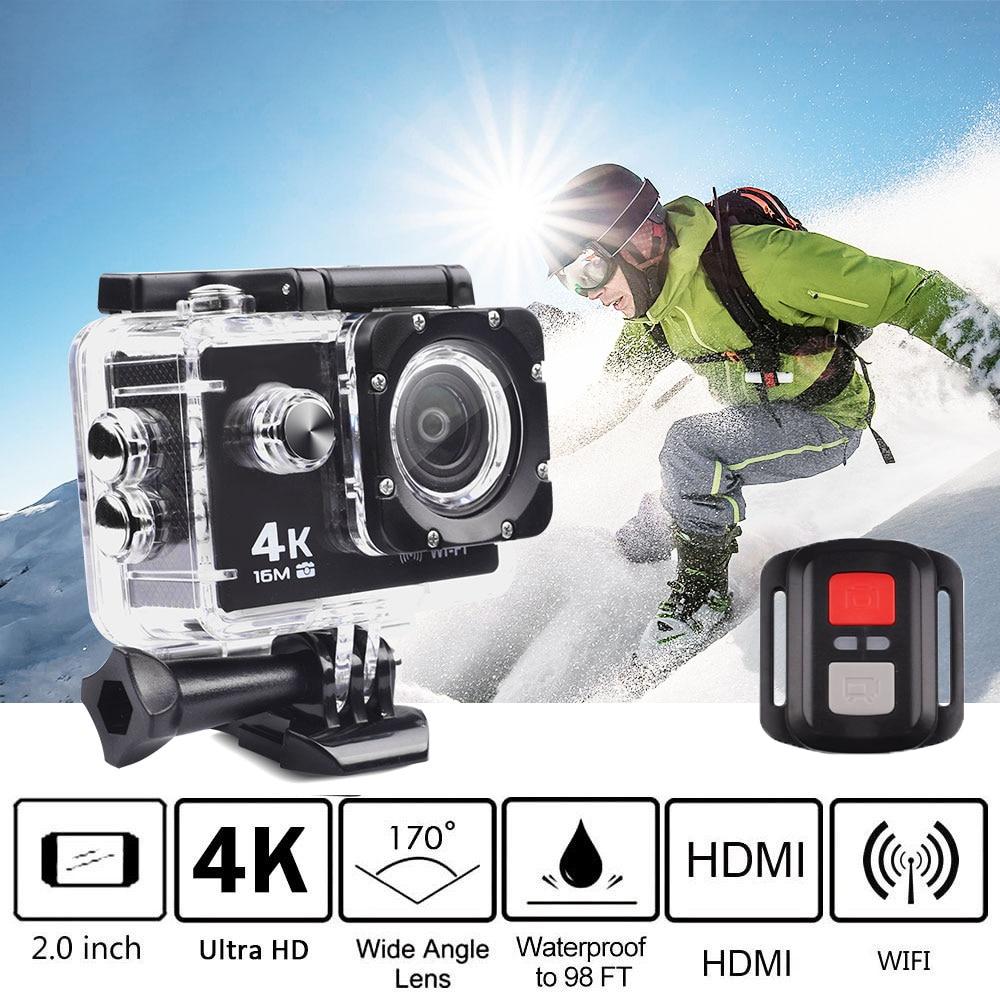 Trainshow moto Dash Cam 4 K 16 M sport Action vidéo caméra, voiture DVR Full HD 30 m étanche plongée WiFi télécommande casque