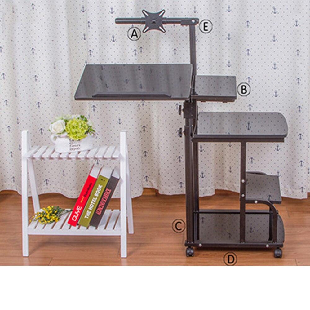 стол с регулируемой высотой портативный стол для ноутбука Портативный Складной Регулируемый стол для ноутбука компьютерный стол на колеси...