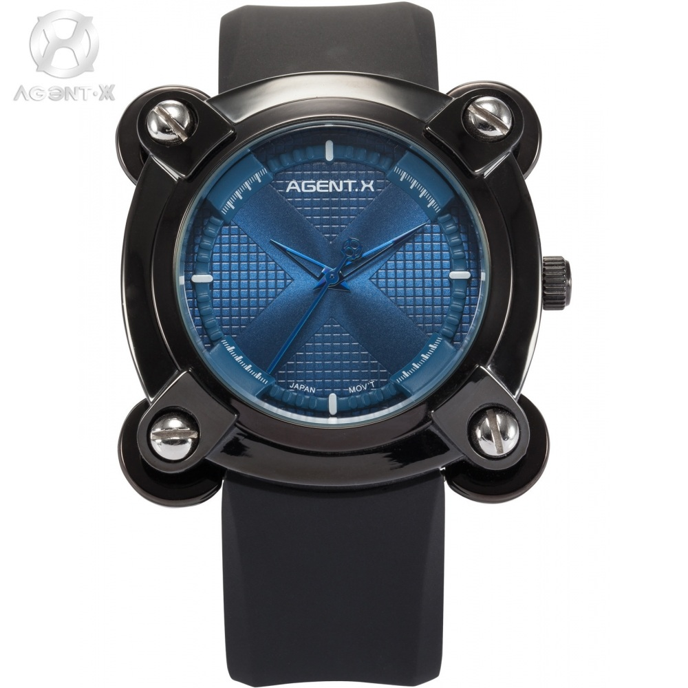 compare prices on x men watches online shopping buy low price x agentx luxury brand military wrist watches men blue x design screw analog rubber band clock male