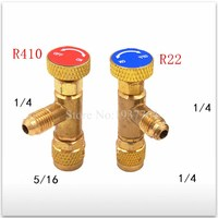 2pcs/set new for Air conditioning fluorine Refrigeration Air conditioning Valve Safety Adapter R22 R410 Air Conditioner Parts    -