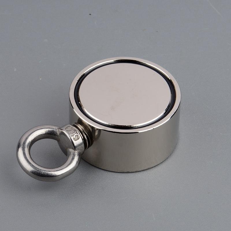 100 KG * 2 Super Potente Neodimio Forti Magneti Magnete Magnetico Materiale di Acqua di Pesca Magnete con Corda Blu di trasporto100 KG * 2 Super Potente Neodimio Forti Magneti Magnete Magnetico Materiale di Acqua di Pesca Magnete con Corda Blu di trasporto