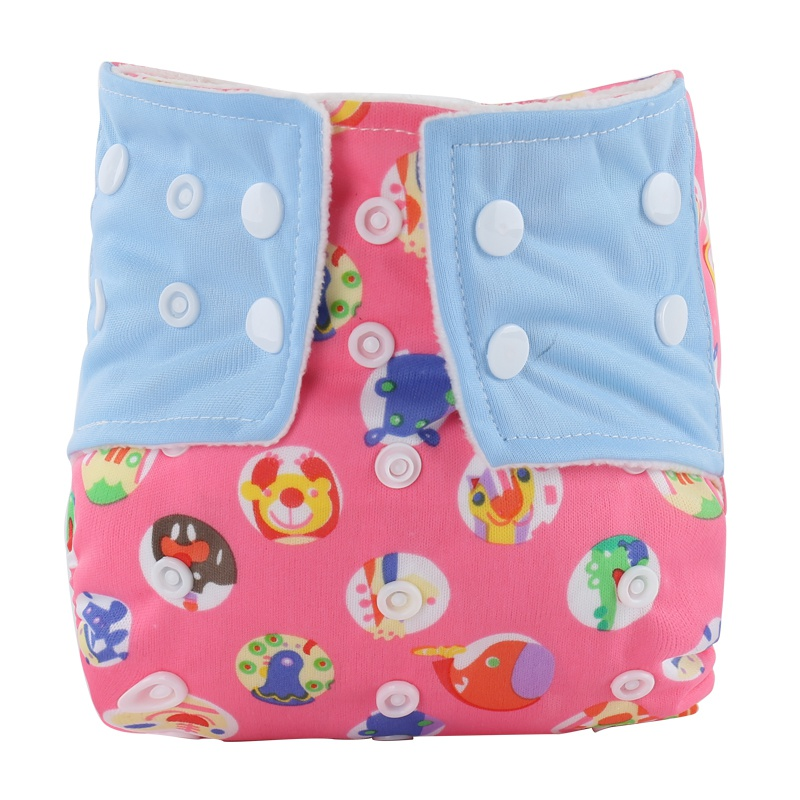 2017 New Sweet Cute Baby Clothes Diaper Cover Waterproof Cartoon Owl Baby Diapers Reusable Cloth Nappy