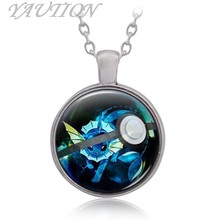 3 Colors Pokemon Go Pocket Monster series Pocket Monster water elf baby time Necklace(China)