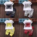 Baby Boy Kid ESTRELLA de Manga Corta Traje de Ropa Deportiva Camiseta Top Pantalones Cortos Trajes