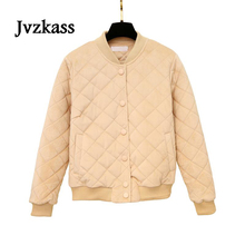 Jvzkass 2018 cotton clothing female winter jacket new thick gold velvet bf Fresh and warm Z262