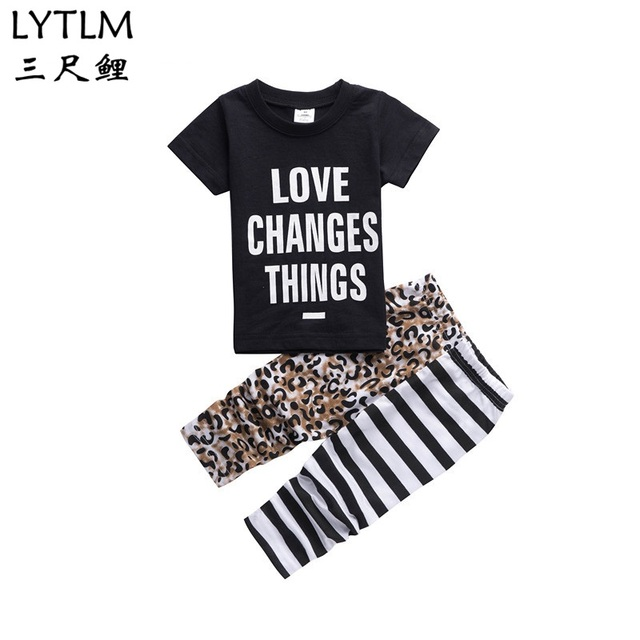 72931903cd4ca LYTLM 2018 Baby Girl Clothes Sets Baby Infant Clothing Outfits Suits 2Pcs  Baby Boys Kids Clothes