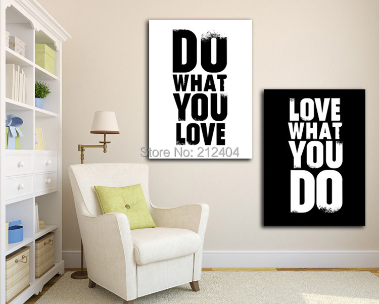 2 pieces black and white modern modern wall painting do for Modern home decor pieces