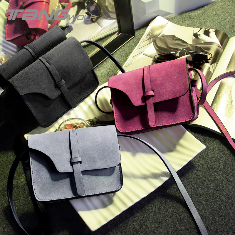 Tang Wolf 2017 Mini Women Bag Vintage Nubuck PU Leather Lady's Messenger Bags Ladies Shoulder Bag Females Crossbody Bags Bolsas