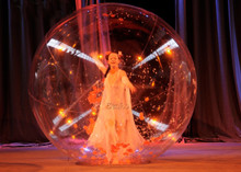 WB087 Free shipping  Inflatable Zorb Ball Party Events Dance Clear Dance Ball/Beautiful inflatable water ball for stage sphere