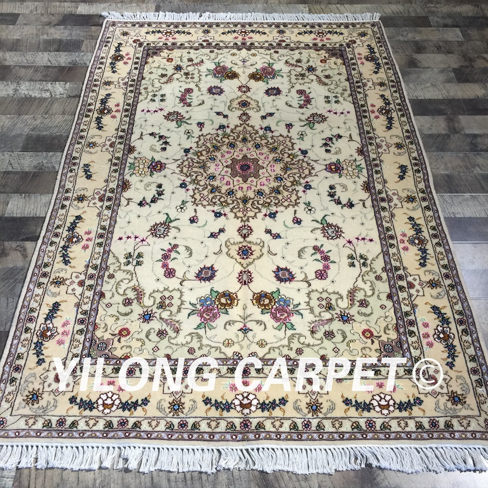 Us 2400 0 Yilong 4 X6 Colorful Flowers Handmade Persian Wool Silk Rug Durable Exquisite Kashmir Carpet Wy2090s4x6 In From Home