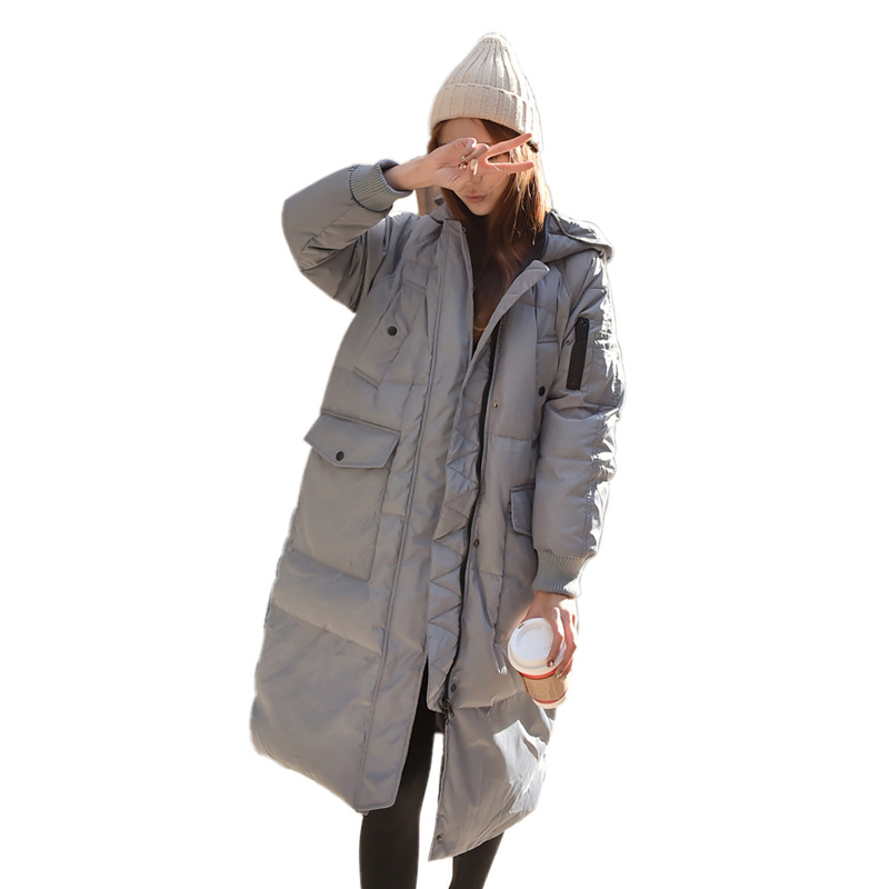 Winter 2017 New Fashion Parkas Hooded Thicken Jacket Long Cotton Padded Students Bread Loose Jacket Plus Sizes Female Outwears high quality women winter parkas 2017 new fashion female medium long loose cotton padded wadded jacket coat plus size 3xl cxm206