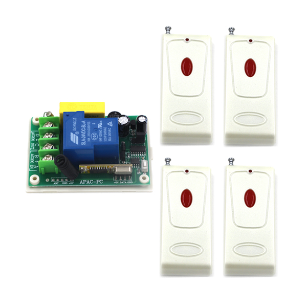 RF Remote Control Switch AC 220V 30A Receiver +Long Range Transmitter 315MHZ/433MHZ Learning Code Momentary Toggle SKU: 5508 small ac220v remote control switch long range transmitter receiver 200 3000m lamp light led remote lighting switch 315 433 92mhz