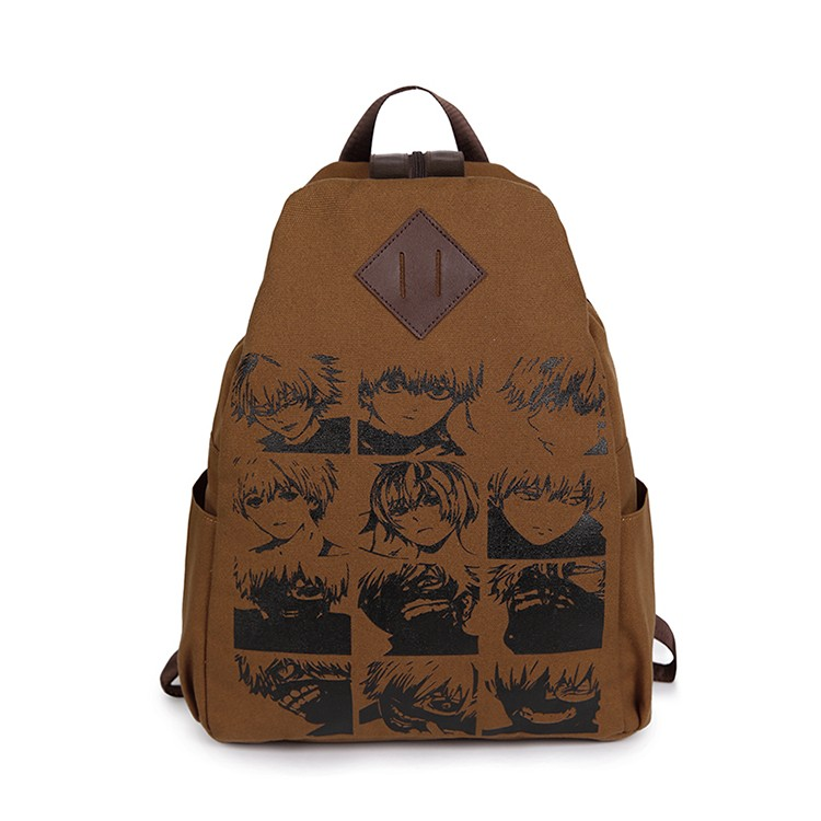 The new cartoon around the Anime  tokyo ghoul cosplay  backpack fashion men and women canvas leisure backpack anime tokyo ghoul cosplay anime shoulder bag male and female middle school student travel leisure backpack page 6