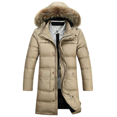 More long down jacket in winter men heavy hair down coat of cultivate one's morality men's coat