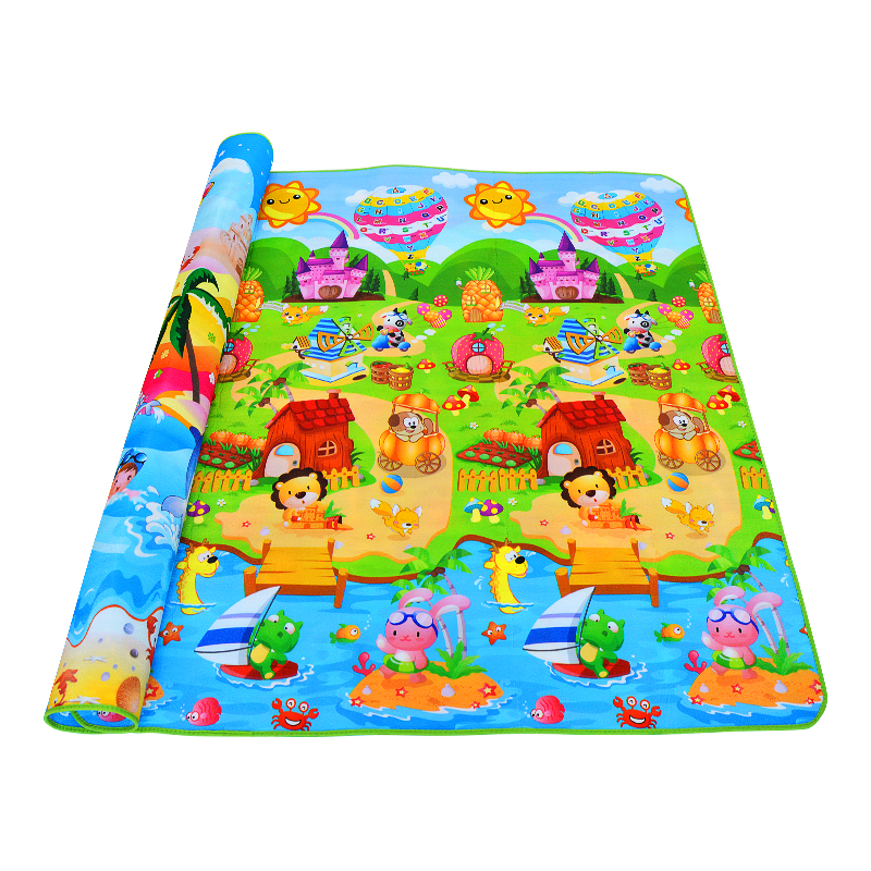 Baby Play Mats 180*150cm*1cm Double Side  Rugs Toddler Gym Carpets Children Picnic Mat  Kids Rug Play 4