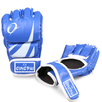 MMA Boxing Gloves Top Quality PU Leather MMA Half Fighting Boxing Gloves Competition Training Gloves