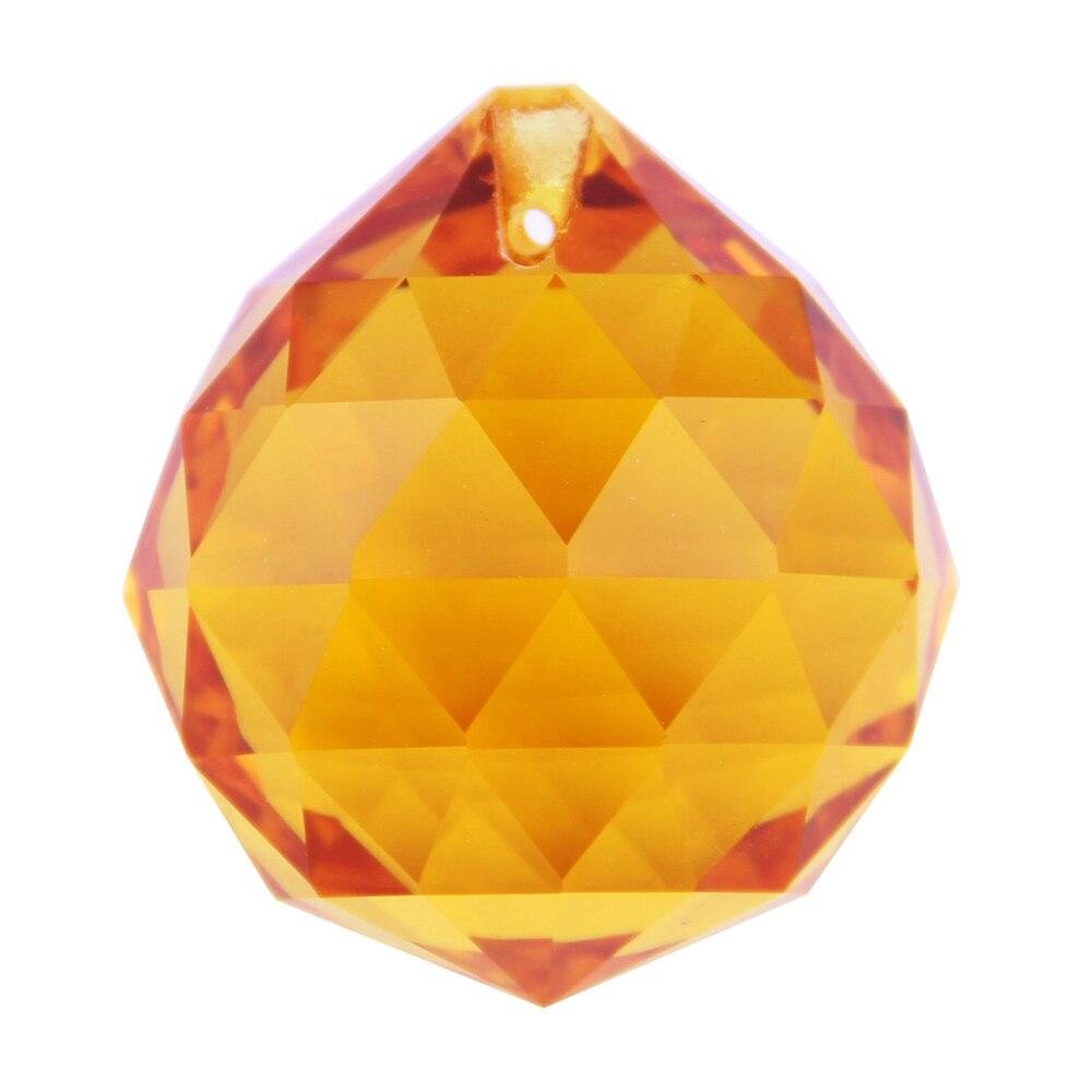 30mm Amber 40pcs/lot crystal chandelier parts glass lighting prism pendants  Lustre de cristal faceted