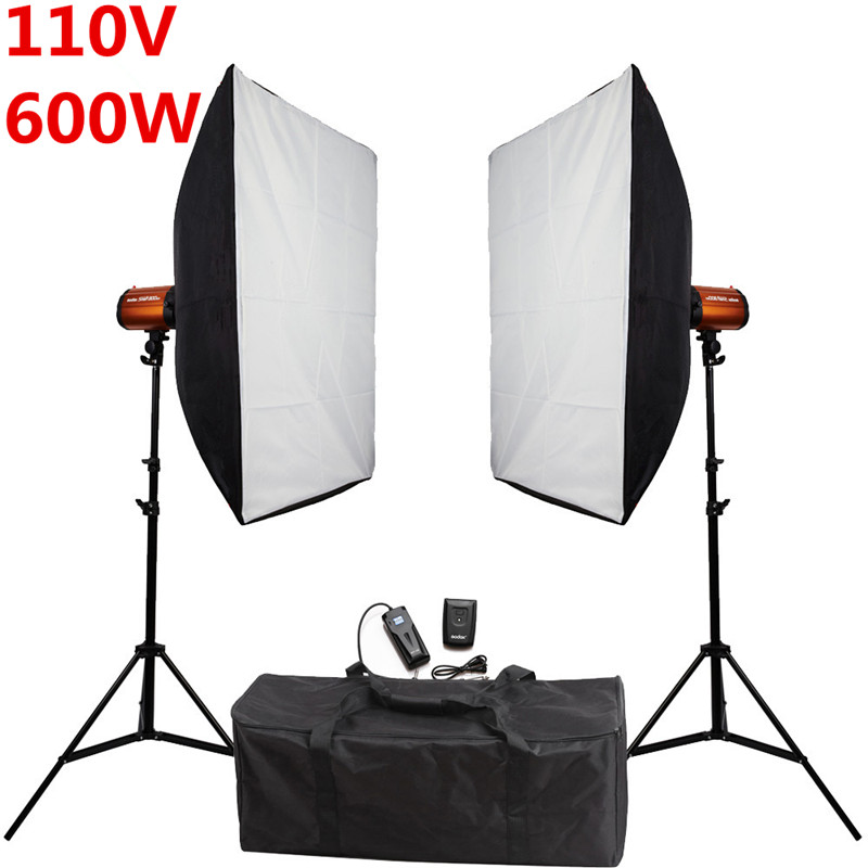 home studio lighting kit photography studio soft box flash lighting kits 110v 600ws 41465