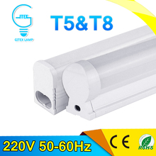 PVC Plastic 6W 10W LED Tube T8 Light 220V 240V 60cm 30cm LED Wall Lamp Cold White LED Fluorescent T5 Neon LED T5 lamp
