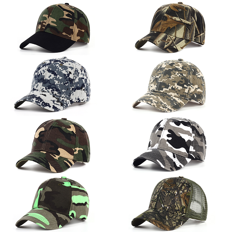8 style Men's Snapback Camouflage Tactical Hat Army Tactical Baseball Cap Head Camouflage Caps Sun Hat Golf Hats wholesale hot indian style stretchable turban chemo headwrap women men head wrap cap cover flower leopard pattern sleep hat caps