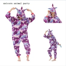Flannel kigurumi onesies Winter unicorn Pajama Men Women Warm Hooded pajama adults Homewear Animal Cartoon Cosplay Sleepwear