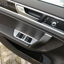 For VW Volkswagen 2011 2012 2013 2014 2015 2018 Touareg Stainless steel Car Window Switch Panel Cover Trim Sticker Accessories стоимость