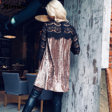 Patchwork Lace Dresses For Women Vestidos Night Club Clothing Sexy Velvet Tunic 2018 Spring Casual Pleated Party Women's Dress
