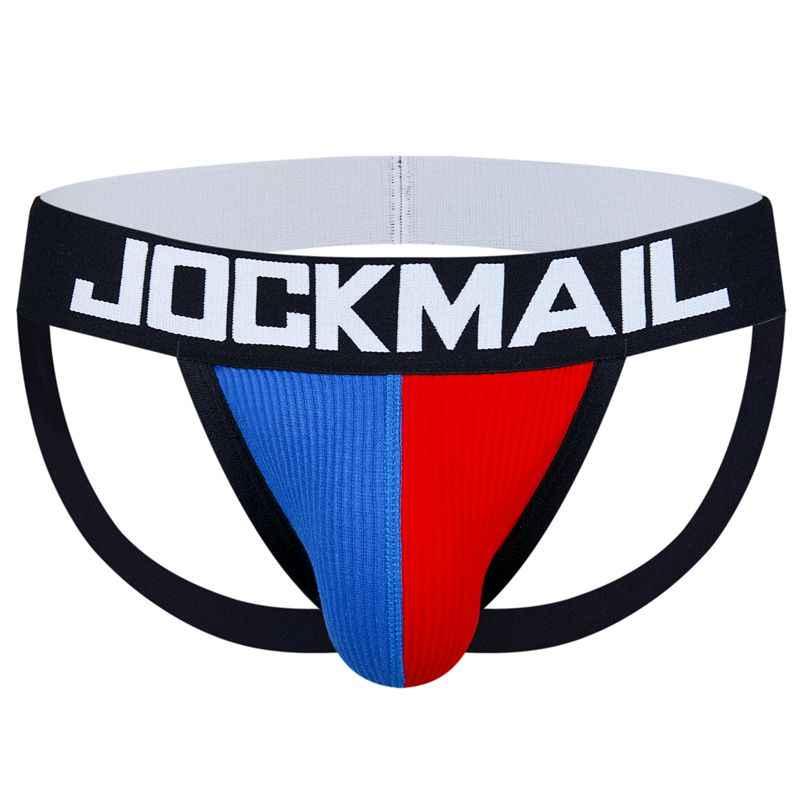 JOCKMAIL Thương Hiệu nam Sexy Jockstraps Đồng Tính Jocks Cotton Thấp Lên Đùi Quần Lót Màu G Dây Ngắn Gọn Bikini Hở Lưng