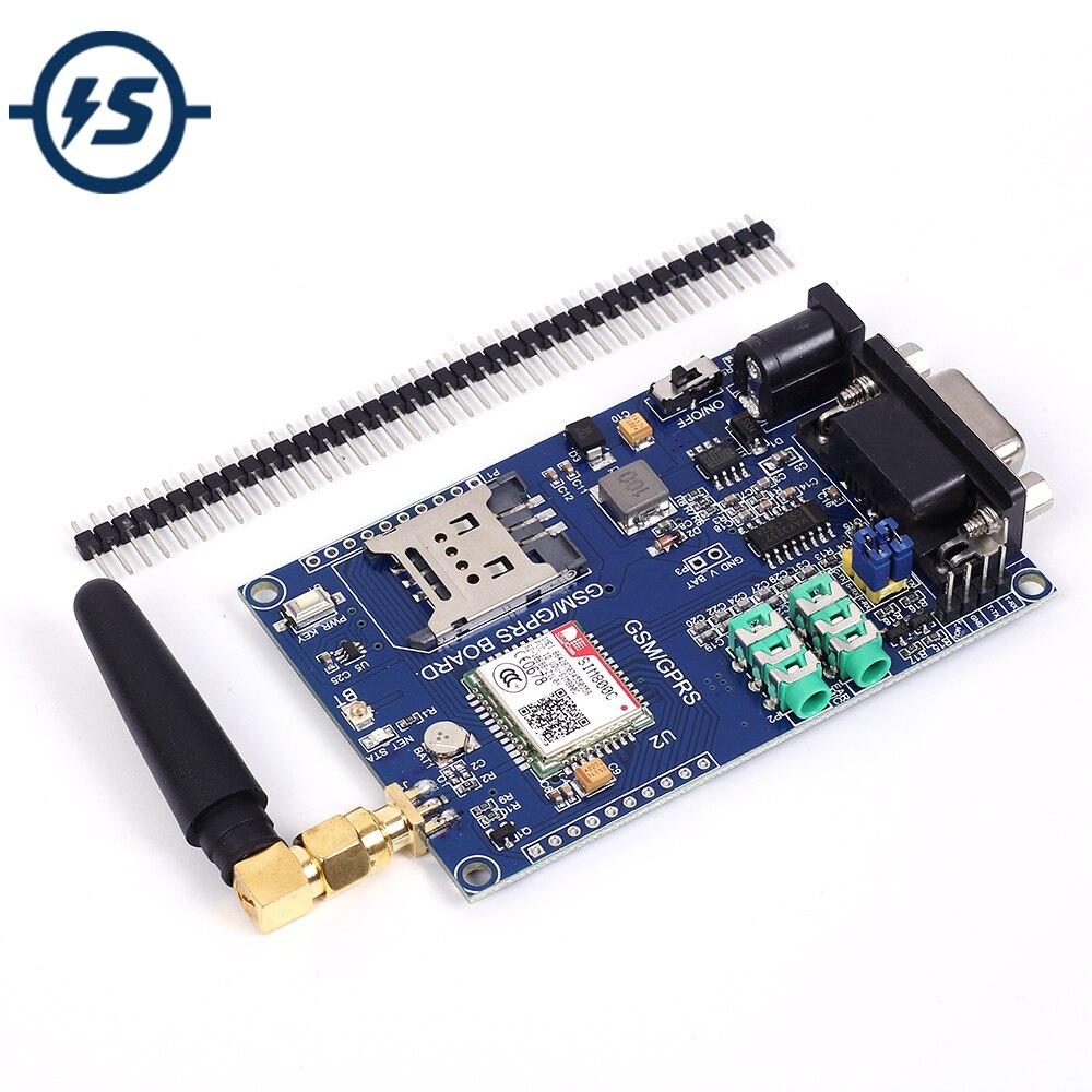 SIM800C Development Board Module Support GSM GPRS 3.3/5V TTL Level Control DC 6-24V For Arduino 51 MCU STM32 ESD Protection ChipSIM800C Development Board Module Support GSM GPRS 3.3/5V TTL Level Control DC 6-24V For Arduino 51 MCU STM32 ESD Protection Chip