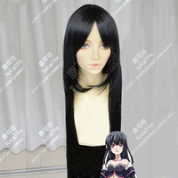 Anime Ulysses Jeanne d`Arc to Renkin no Kishi Astaroth Wig Cosplay 100cm Black Synthetic Hair Wig + Wig Cap