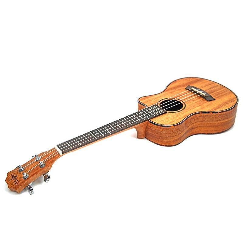 Ukulélé de 23 pouces guitare acoustique de voyage 4 cordes Guitarra ténor Concert ukulélé bois acajou Plug-in Mini guitares Hawaii