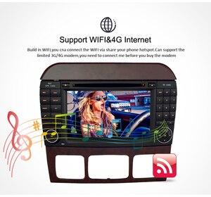 """Image 5 - 7 """"Android10.0 reproductor de DVD del coche de navegación GPS para Benz SCL clase S320 S350 W220 W215 CL600 1998 2005 Audio Video Radio Multimedia"""
