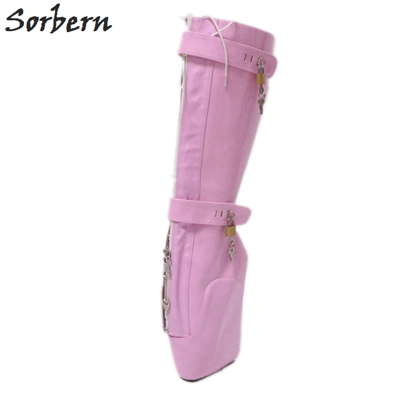 Corto Mujeres Tacones Rosa De Fetiche Gaga Bota Las Travestido Pink Extrema Ballet Puntillas Zapatos Tacón Sin Sorbern Señoras Botas Lady zX4wYqq