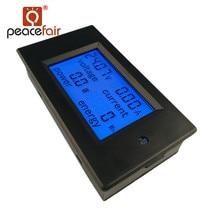 PEACEFAIR DC 6.5-100V 20A 4 IN1 Digital LCD Ammeter Voltmeter Voltage Current Power Energy Car Motorcycle Volt Meter стоимость
