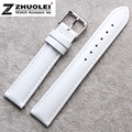 12mm 14mm 16mm 18mm 20mm White Genuine Leather Watch Bands Strap