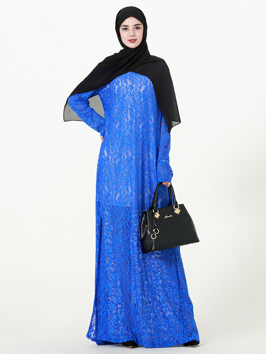 Lace Maxi Dress Female 2019 Spring Long Women's Dresses Split LOOSE Plus Size 8XL 9XL 7XL Sexy Elegant Dresses CM113