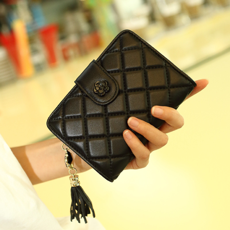 New Fashion Genuine Leather Lattice Women Wallet Clutch Women's Purse Best Phone Wallet Female Case Phone Pocket Carteira Femme
