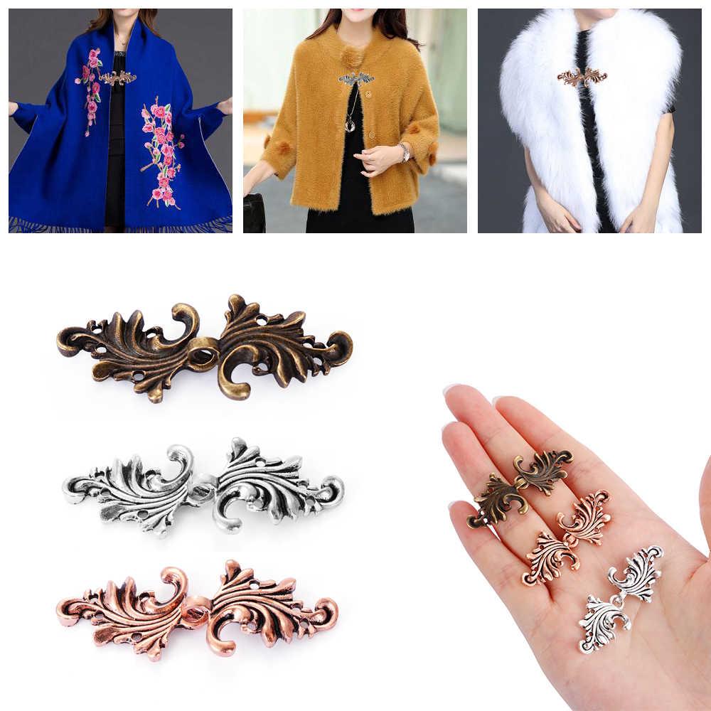 Novo retro vintage cardigan pato clip pin feminino xale blusa gola camisola cachecol fecho retro charme jóias acessórios moda