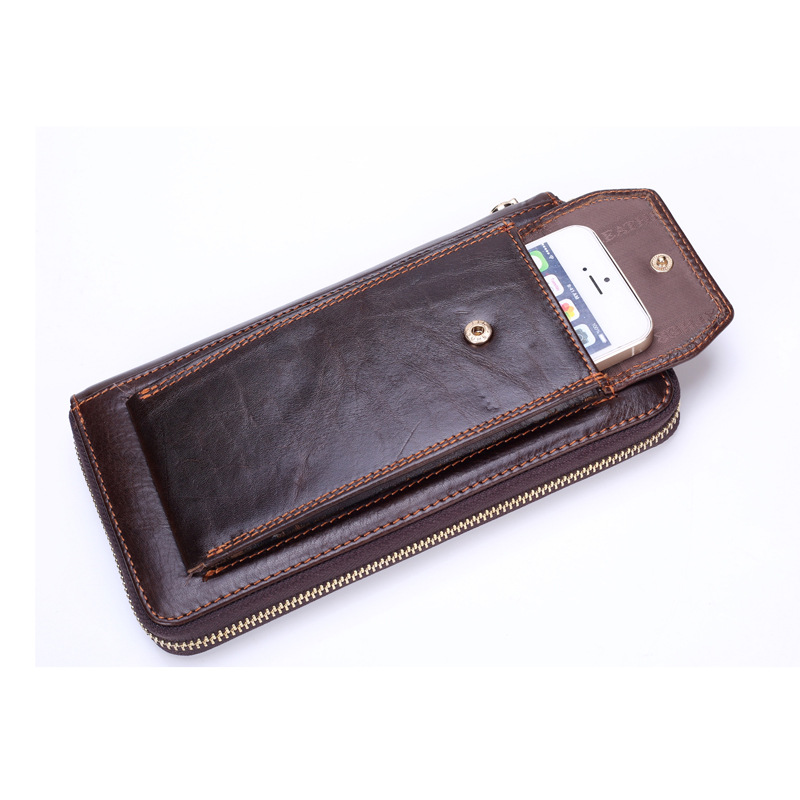 Brand Designer Genuine Leather Men Wallet Leather Wallets Handmade Men Purse Credit Card Holder Cowhide Clutch With Phone Bags 100% genuine leather men designer patchwork wallets famous brand men s wallet man fashion purse with credit bank card holders